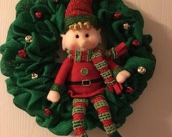 Handmade Elf Wreath