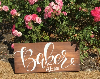 Personalized Wooden Last Name Board