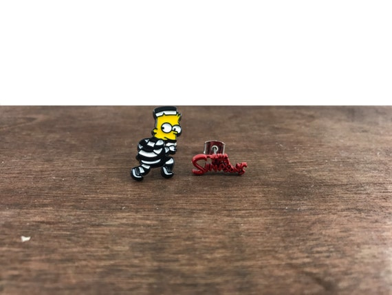 Bart Simpson Earrings, Simpsons Earrings, Bart Simpson Studs, Simpsons Studs