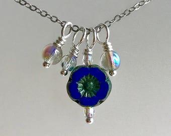 Royal Posy Glass Trinket Necklace