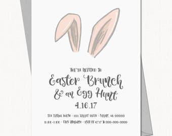 Easter Brunch Invitation  //  Easter Party Invite // Egg Hunt Invite  - Printable Template