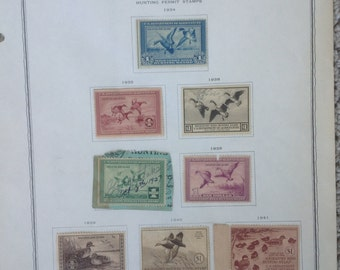 Federal Duck stamps years 1934 to 1941