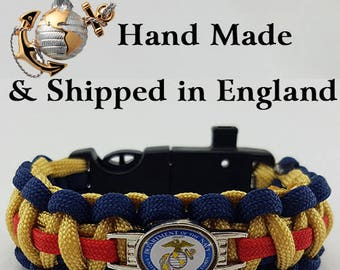 US Marines Paracord Bracelet Wristband Great Gift