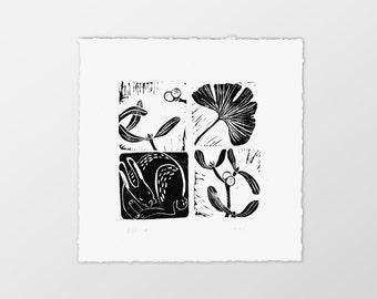 linocut print «2х2»