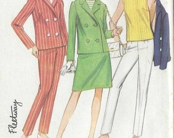 1967 Vintage Sewing Pattern B36 Jacket,  Skirt, Pants  & Top (R691)