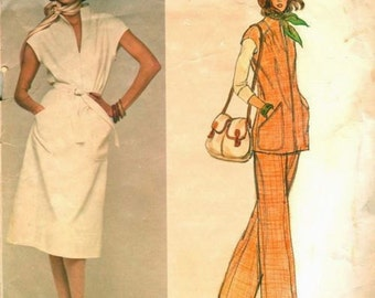 "1970s Vintage Vogue  Sewing Pattern B36"" DRESS TOP & PANTS (1711) Jerry Silverman"