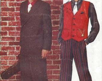 1940s Vintage Sewing Pattern C30-to-48 MEN'S Suit Costume XS-S-M-L-XL (1017) Butterick P480