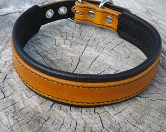 Leather Dog Collar - Handcrafted Leather Dog Collar-  100%  Real Leather -Many Options Available-Quality Dog Collars