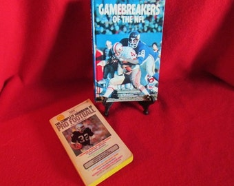 Two Vintage Sports Books - NFL Football -'70's, '80's