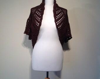 Woman boho Cardigan brown knitwear