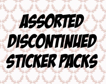 Assorted Discontinued Sticker Packs