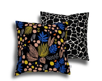 Pillowcase - black jungle