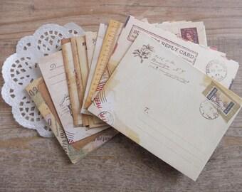 Retro vintage style mini envelopes envelopes 12 piece set