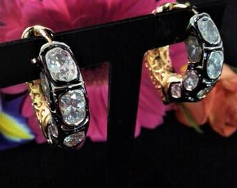 Polki Hoop Earrings- Bridal Earrings- Wedding Jewellery- With Gift Box- RK26