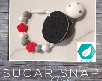 Original oreo teether silicone - baby gift - baby toy - toddler chew toy - bpa free - silicone roses - chew beads - toy toddler gift newborn