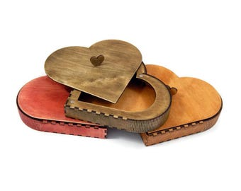 Heart-shaped box, Home decor, Birthday gift, Valentines Gift