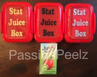 Juice box organizer, plastic holder, lunch boxes, diabetic bags, lows
