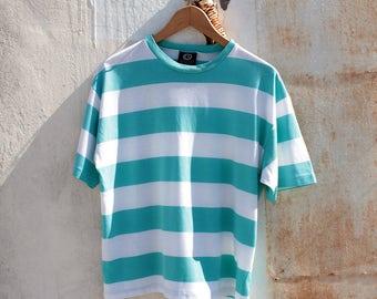 80s Bold Striped Beach Tee