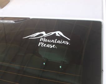 Mountains Please Car Decal