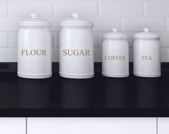 Modern pantry labels
