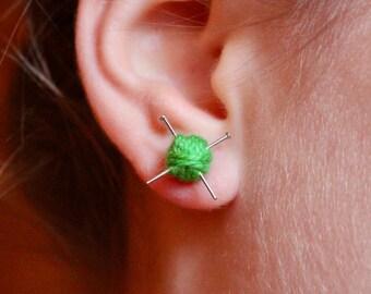Hear me Knit! - stud earrings