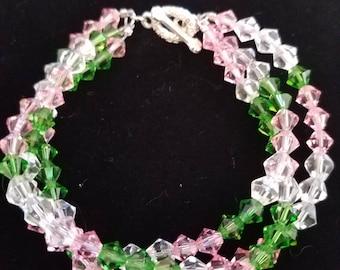 Crystal Beaded Braid Bracelet