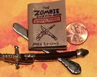 The Zombie Survival Guide mini book