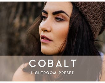 Cobalt Moody Modern Professional Lightroom Preset Professional Lightroom Filters for Portraits, Weddings, Family, Newborns