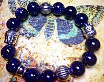 Midnight Blue Goldstone Bracelet