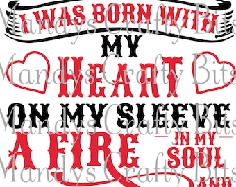 Digital file SVG Chiefs I wear My heart On My Sleeve