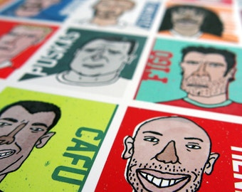 Golaço! - Football Icons, Soccer, Illustration, Giclee Art Print