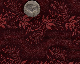 Quilter's Fat Quarter Out of Print Smithsonian Copp Quilt Fabric Dk. Red Stripe