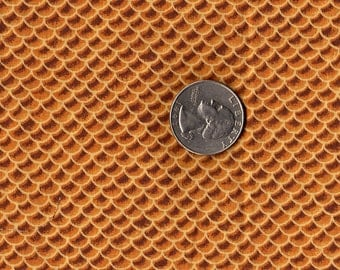 """Gold Roof or Animal Scales Print Cotton Fabric Quilter's Fat 1/8th 9"""" x 22"""" Maywood"""