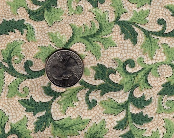 Fat Quarter Quilter's Only for Springs Industries Pompeii OOP Green Leaf Vines