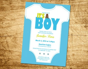 It's A..... Baby Shower Invitation