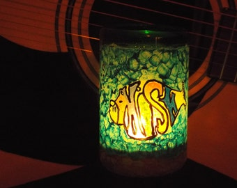 Phish hand painted tea light candle holder