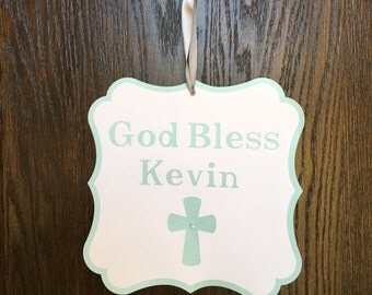 God Bless door sign