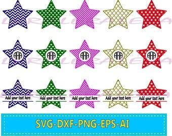 60 % OFF, Stars SVG Files, Stars Svg, Dxf, Png,Ai File, Stars Monogram, Star Split-monogram, Silhouette Vinyl Cutter, Instant Download