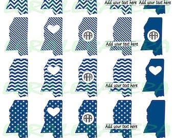 60 % OFF, Mississippi State SVG, Mississippi Monogram Frames, Mississippi Cricut file, Silhouette Vinyl Cutting file, dxf,svg,dxf,ai,eps,png