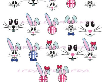 60 % OFF, Bunny Face Svg, Bunny Face Monogram SVG, Bunny Face SVG Files, Bunny svg Cut File, png, eps, dxf, Bunny Face  Monogram Frames