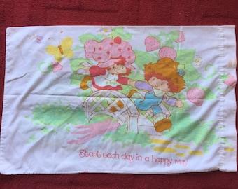 Vintage Strawberry Shortcake Standard Pillowcase