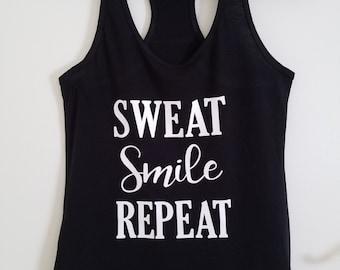 Sweat Smile Repeat Racerback Tank