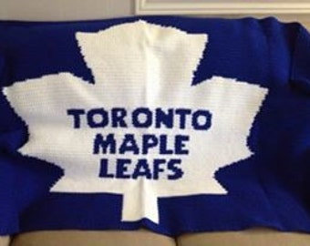 Toronto Maple Leafs Blanket PATTERN