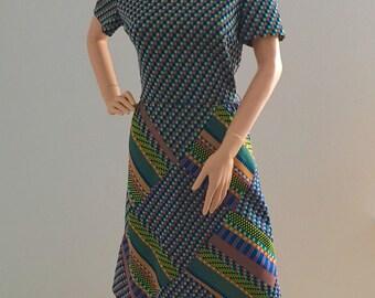 1960's Vintage Mod Shift Dress Medium