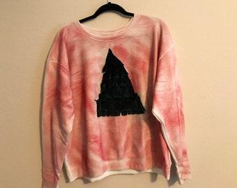 Velvet Fringe Christmas Tree Sweatshirt (Women's 1X)
