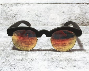 Sunglasses - Clubmaster - Orange