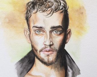 Portrait d'homme, modèle, Cristian Codrin