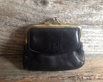 Vintage Leather Coin Purse leather/coin purse/wallet/change purse
