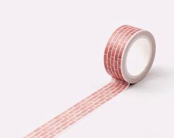 Brick Wall Washi Tape Masking Tape Planner Stickers Scrapbooking Stickers