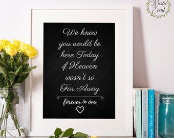 Wedding Remembrance Sign / Chalkboard Wedding Memorial Sign / In Loving Memory Printable / Remembrance Table Sign / Lost Loved Ones Sign